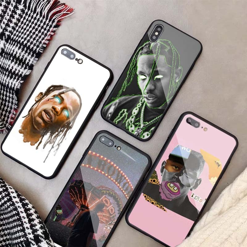 Travis Scott Printed Tempered Glass IPhone Case