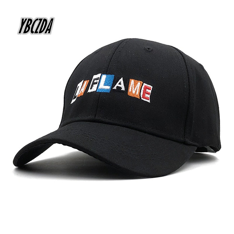 New Cotton Cap LA FLAME Dad Hat High Quality Travis Scotts Embroidery Baseball Caps