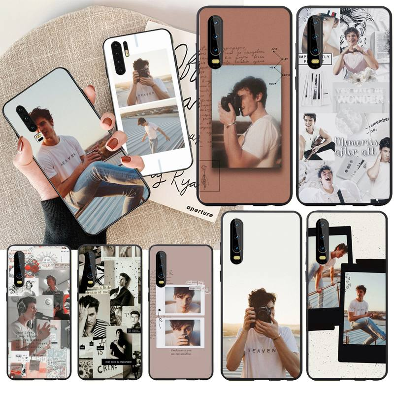 Singer Shawn Mendes Pattern Black Cell Phone Case - MillionMerch