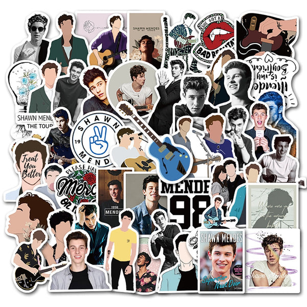 Singer Shawn Mendes DIY Waterproof Stickers