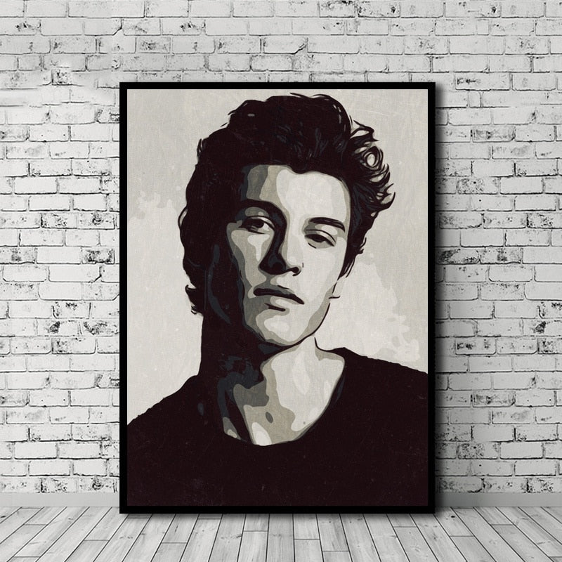 Shawn Mendes Hot Oil Painting Picture For Room Home Decor - MillionMerch