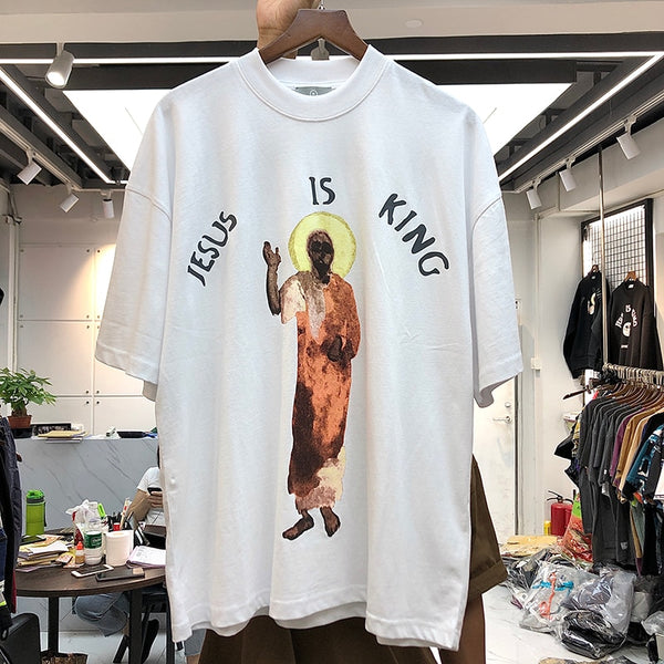 Jesus Is King T-shirt Kanye West T-shirts High Quality Portrait of Jesus Logo - MillionMerch