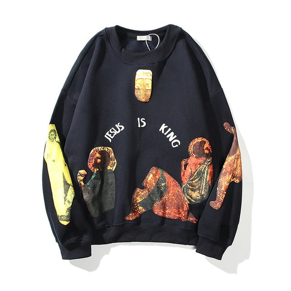 KANYE West Jesus is king Unisex Fleece Sweatshirt