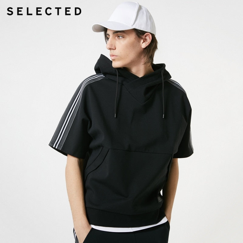 Loose Fit Cotton short sleeved Hoodie