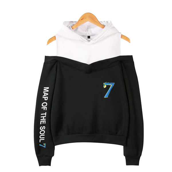 BTS MAP OF THE SOUL Bare Shoulders Hoodie