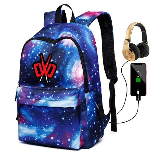 CWC Printed Unisex Galaxy Backpack
