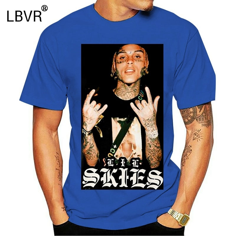 LIL SKIES rap rapper printed T-shirt