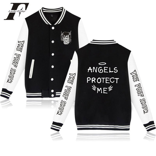 Lil Peep ANGELS PROTECT ME Baseball Bomber Jacket