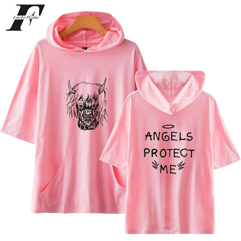 Lil Peep ANGELS PROTECT ME Short Sleeve Tshirt