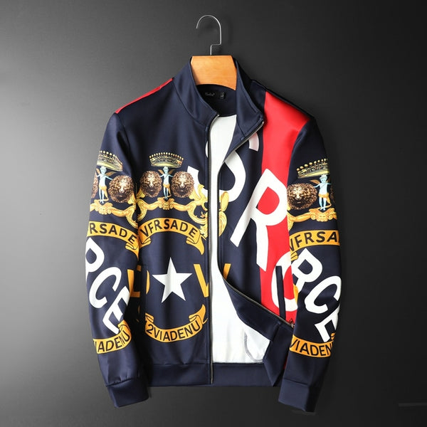 Branded Men Bomber Printing Jacket