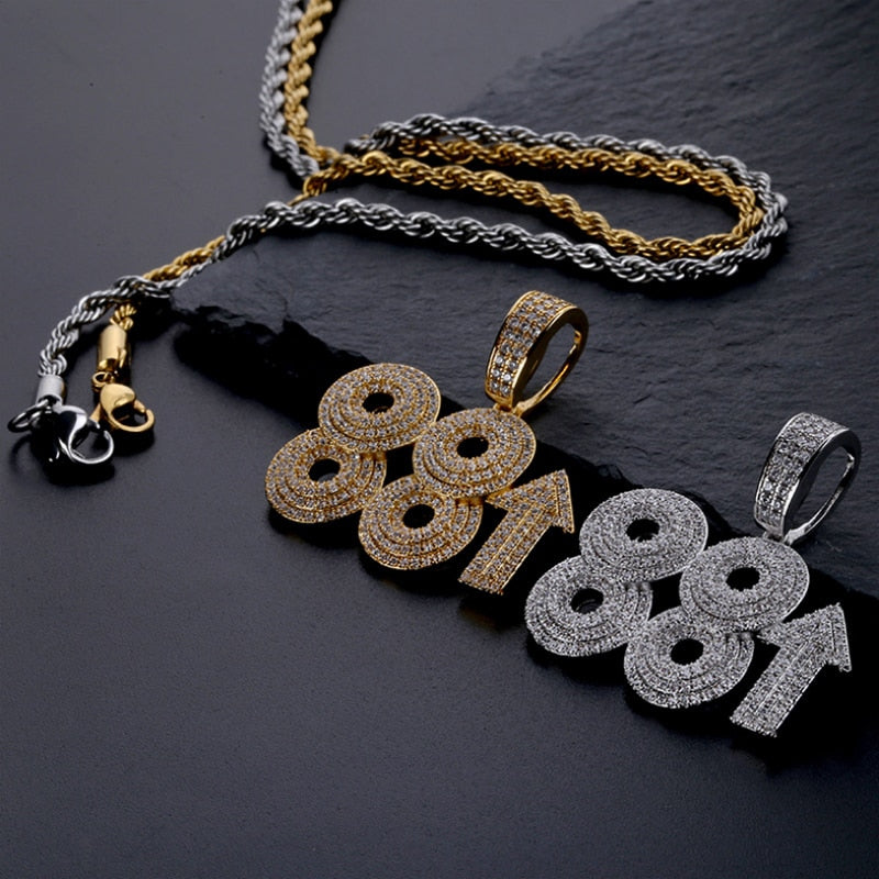 88rising Rich Chigga HipHop Pendant Necklace