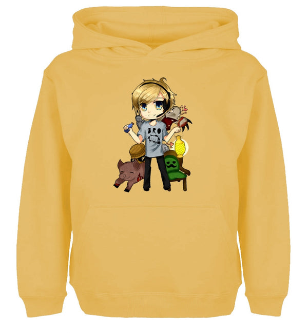 Pewdiepie Cute Cartoon Design Hoodie