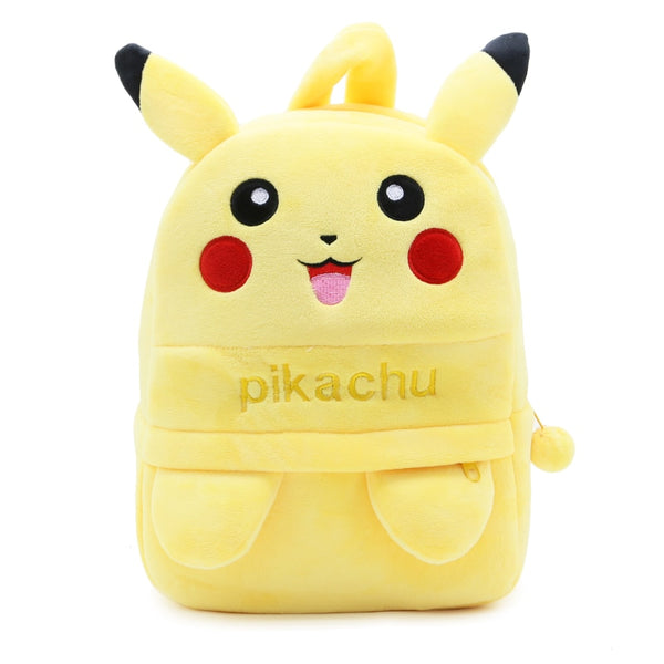 Pikachu Design Soft Plush Material Kids School Bag