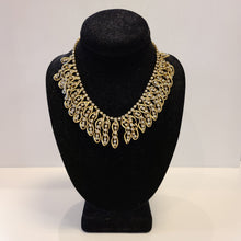 Load image into Gallery viewer, Gold Link Rhinestone Necklace