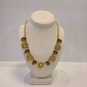 Brown and Amber Sparkle Necklace