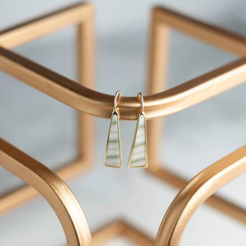 Linen 14K Gold Triangle Drop Earring