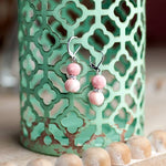 Pink Salt Crystal Earrings