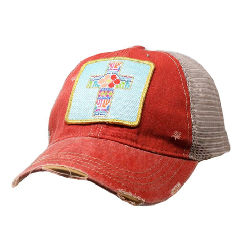 PATCHWORK CROSS HAT
