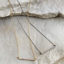 PAVE BAR NECKLACE