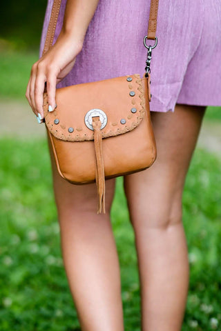 Montana West Real Leather Crossbody