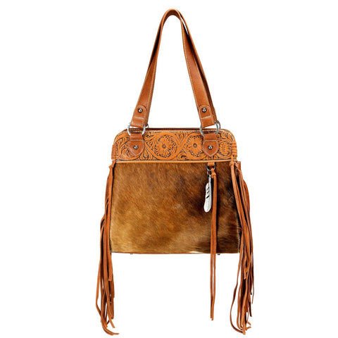 Trinity Ranch Hair-On Leather Collection Concealed Handgun Tote Bag