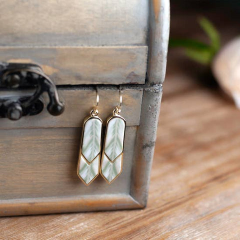 Linen 14K Gold Double Arrow Earrings