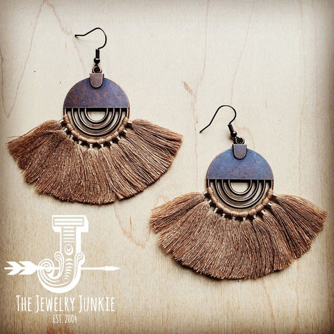 Fan Tassel Earrings 203L