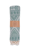 Blue Lagoon Peshtemal Pure Cotton Beach Towel Green