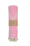 Blue Lagoon Peshtemal Pure Cotton Beach Towel Pink