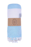 VioletPeshtemal Pure Cotton Beach Towel Aqua
