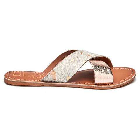 Matisse Gold Cowhair Sandal