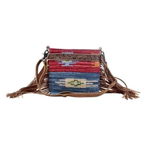 SUNSET HAND-TOOLED BAG