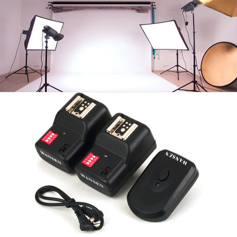 4 Channels Wireless Remote Flash Trigger Transmitter With 2 Receivers for Nikon or Canon