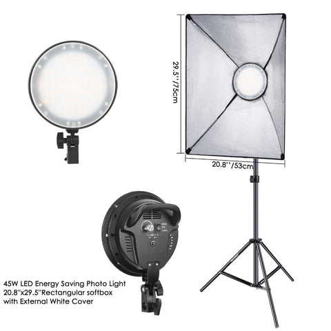 Neewer Photography Bi-color Dimmable LED Softbox Lighting Kit