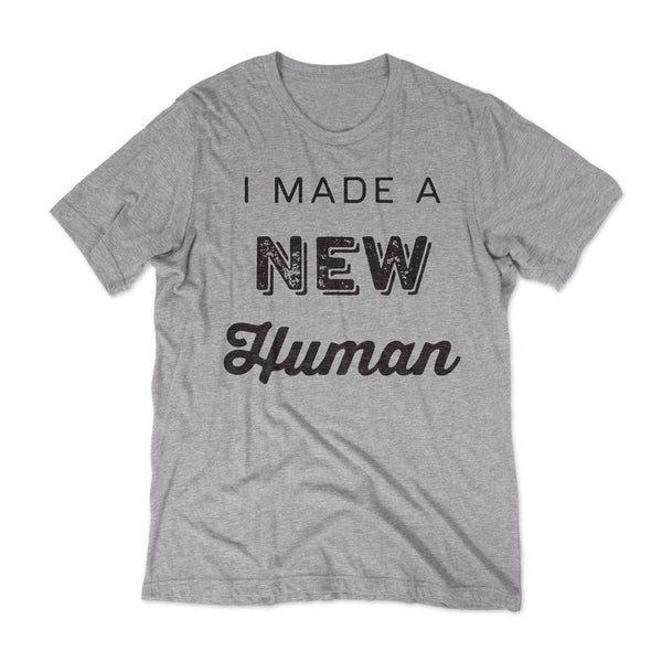 New Human - New Dad T-shirt / Grey