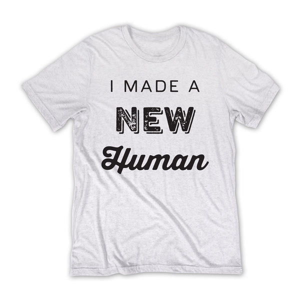 New Human - New Dad T-shirt / White
