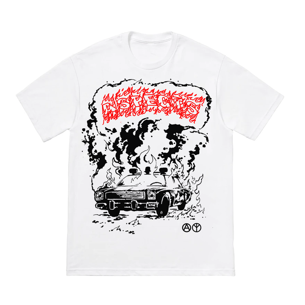 "Aspects "" Arson/Cop Car"" T-Shirt - White"