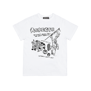 "Aspects"" We Don't Need You"" T-Shirt - White"