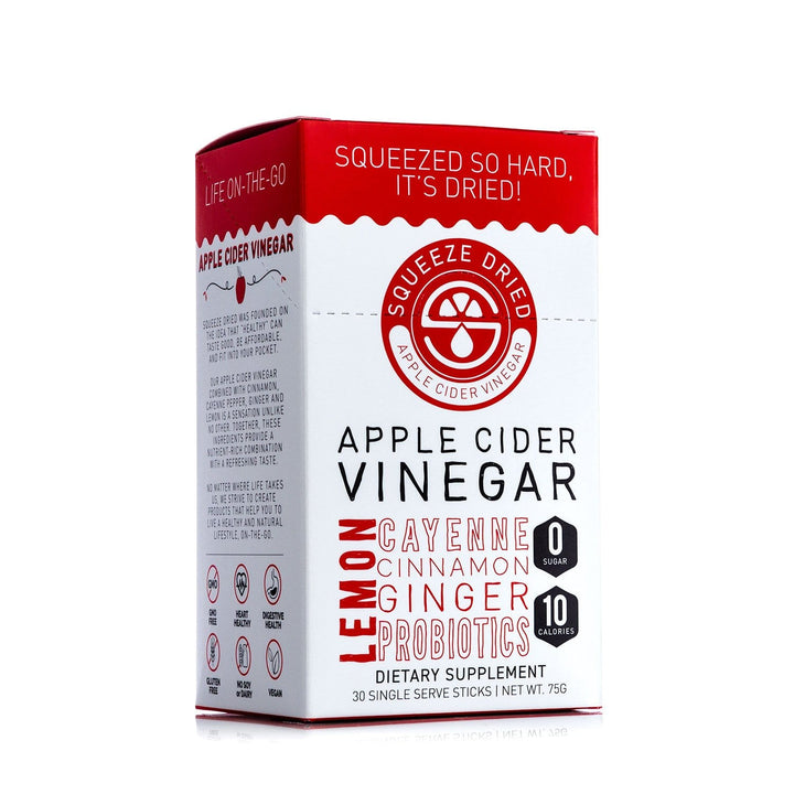 Squeeze Dried Apple Cider Vinegar with Ginger and Probiotics + FREE Squeeze Dried Apple Cider Vinegar with Ginger and Probiotics 30 count sticks