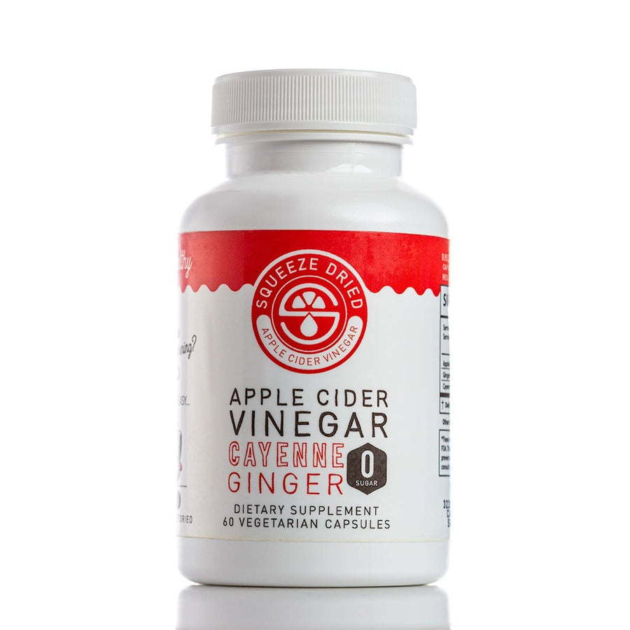 Apple Cider Vinegar Vegetarian Capsules, Weight Loss - Squeeze Dried