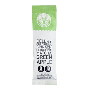 Evergreen-Celery-chlorella-spinach-spirulina-matcha-green apple--Wellness-sticks