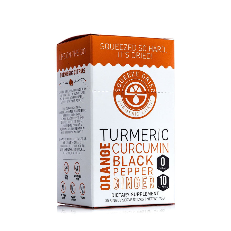 Turmeric Citrus-Turmeric-Curcumin-Black Pepper-Ginger-Orange-Wellness Sticks-Squeeze Dried