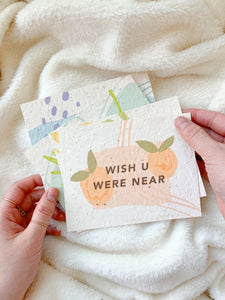 missin you — seeded postcards