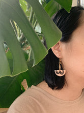 Load image into Gallery viewer, boobs!! in rose — dangle earrings