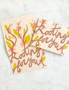 rooting for you — seeded greeting card