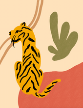 Load image into Gallery viewer, tiger king, but make it matisse — small print