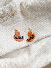 Load image into Gallery viewer, boobs!! in burnt sienna — dangle earrings