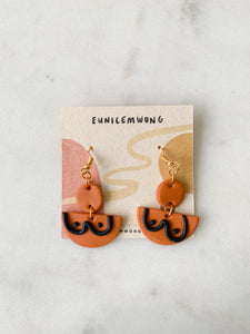 boobs!! in burnt sienna — dangle earrings