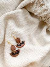 Load image into Gallery viewer, boobs!! in russet — dangle earrings