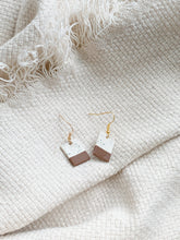 Load image into Gallery viewer, chocolate dip — dangle earrings